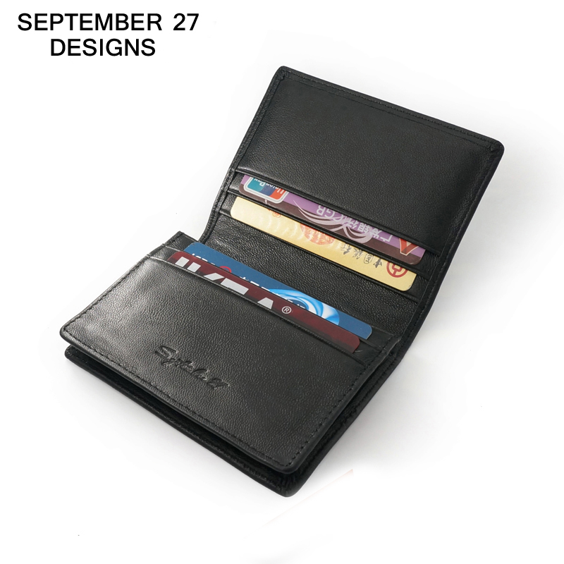 Men Genuine Leather Famous Brand Business Card Holder ID & bank & name card holder wallet for credit cards Multifunctional purse