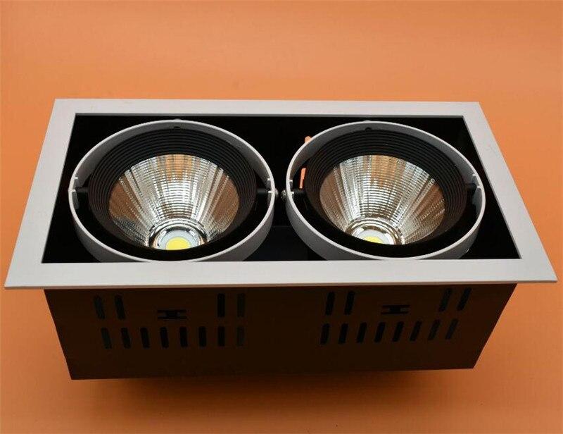 4 pièces DHL navire de haute qualité réglage LED COB dimmable Downlights AC85-265V 30 W LED plafonnier Spot lumière COB lampe LED de calandre