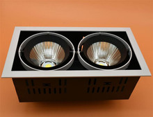 4pcs DHL Ship High quality adjustment LED COB dimmable Downlights AC85-265V  30W Ceiling Lamp Spot Ligh Led Grille light