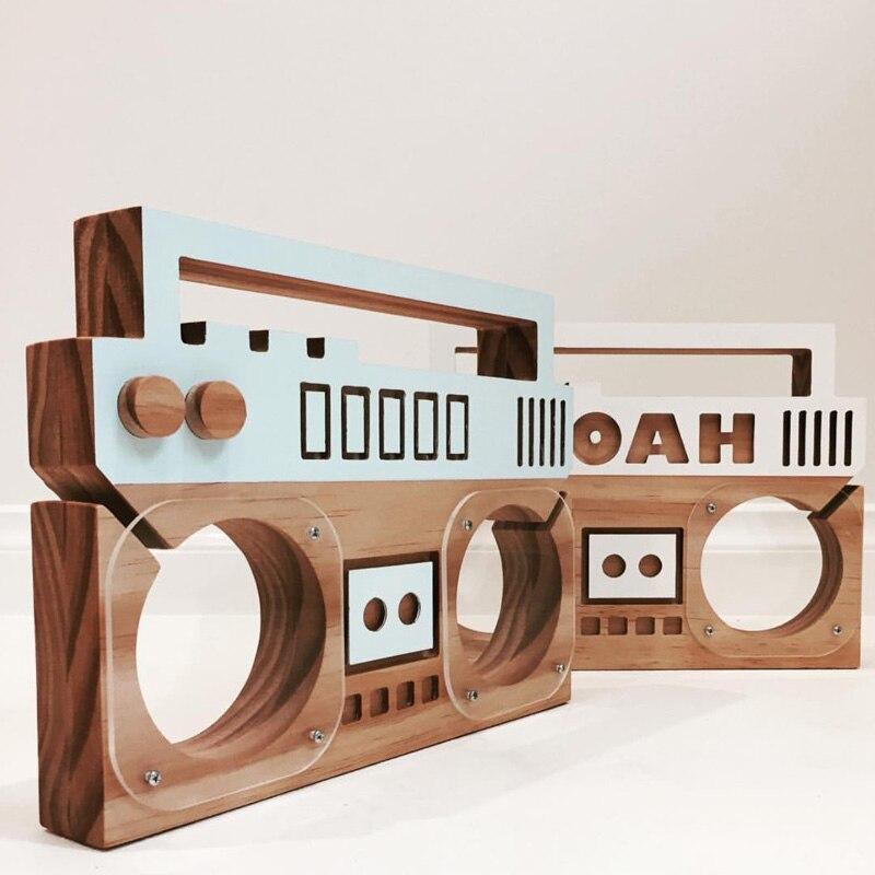 Ins Nordischen Stil Holz Radio Form Sparschwein Kinderzimmer Dekoration  Mode Handwerk Ornament Kreative Fotografie Requisiten In Ins Nordischen  Stil Holz ...