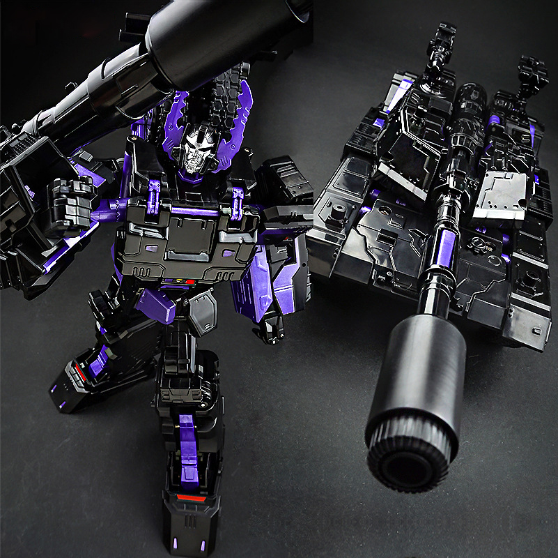 29cm Anime Classic Transformation ABS Deformation Diamond Dark Alloy TANK Model Robot Car Action Toys Figures Kid Education Gift