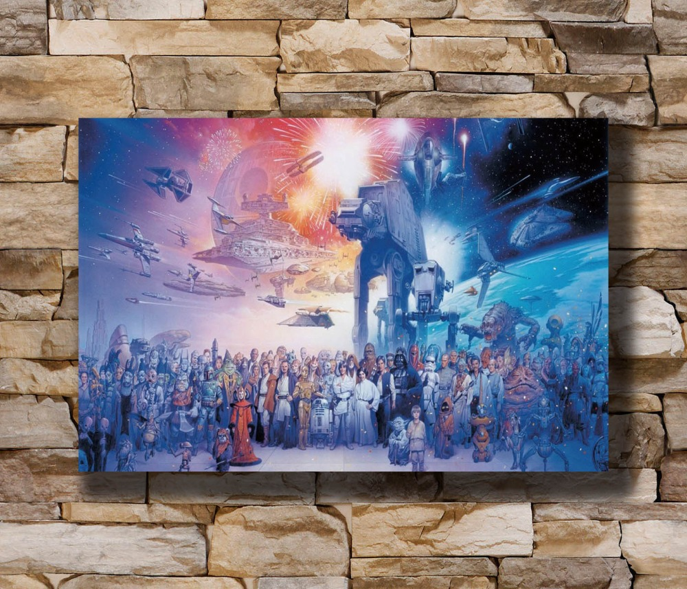 Darth Vader Star Wars Classic Movie Silk Poster Canvas Prints 12x18 24x36 inch