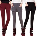 New Autumn Winter Woman lady thick Legging pants capris trousers basic long casual solid stretch keep warm Fat Plus size S~3XL