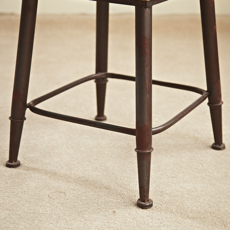 American Country Chairs Metal Wood Low Back Chair Stool Bar Stool