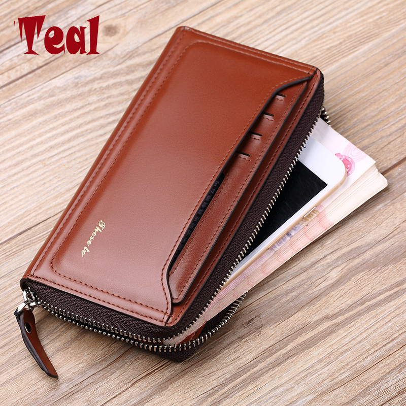 2018 Brand Business wallet men purse Clutch luxury portfolio money clip pocket High capacity Casual ID card wallets Holders 2017 purse wallet big capacity female famous brand card holders cellphone pocket gifts for women money bag clutch passport bags