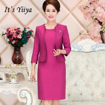be18d4b4c40 Это yiiya мать невесты платья плюс Размеры розы красные рукава три четверти  модные дизайнерские Элегантные платья матери M055
