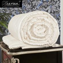 لحاف المعزي من LilySilk تغطية جميع المواسم من الحرير الخالص والطبيعي بنسبة 100 خيط طويل من خيوط الملكة الملك شحن مجاني