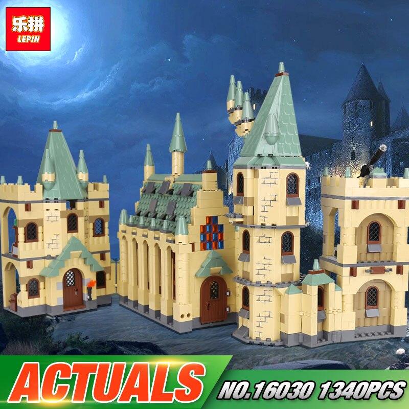 Educativos película de 16030 serie 1340 piezas 48042 Hogwarts Castillo bloques de construcción ladrillos Asamblea regalo de Año nuevo chico de Navidad juguetes