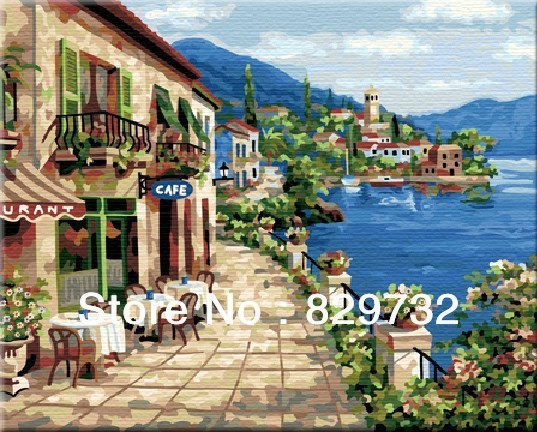JIUJIU DIY digital oil painting Free shipping arcylic paint 40X50cm Spring holidays paint by number