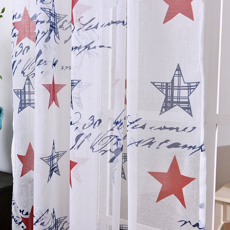 Popular sheer star fabric buy cheap sheer star fabric lots for Star curtain fabric