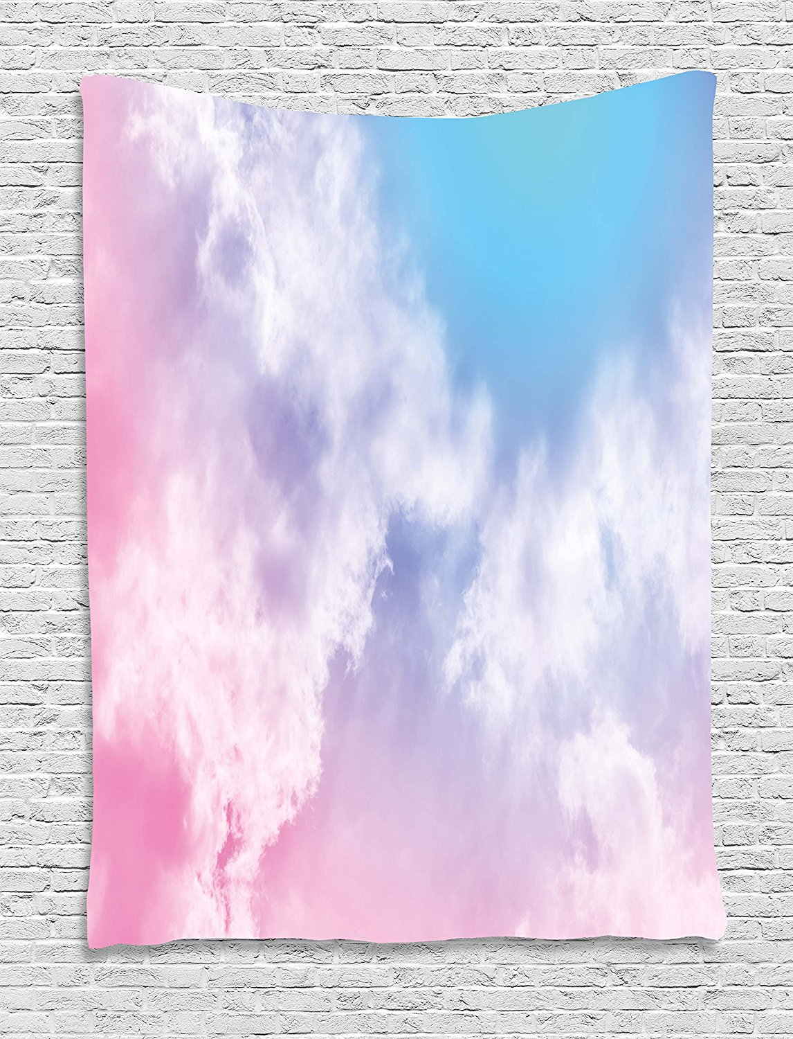 Pastel Tapestry Fantasy Sky Abstraction Smoky Clouds Foggy Mystical Ethereal Composition