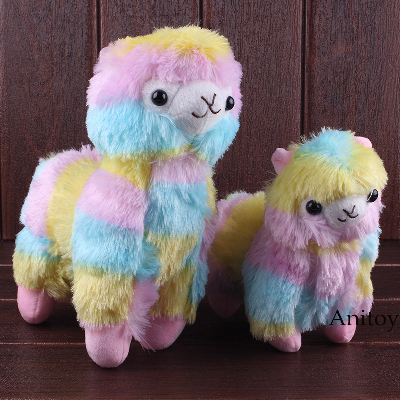 Grass Mud Horse Rainbow Alpaca Vicugna Pacos Alpacasso Plush Toys Soft Stuffed Aniaml Doll Gifts For Girls 2size 20/25cm Dolls & Stuffed Toys