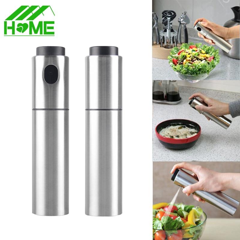 Olive Kitchen Accessories Price List: Stainless Steel Olive Pump Spraying Oil Spray Bottle