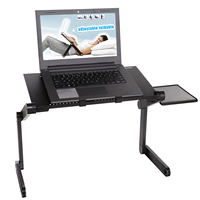 Homdox Portable Foldable Adjustable Laptop Desk Computer Table Stand Tray For Sofa Bed Black