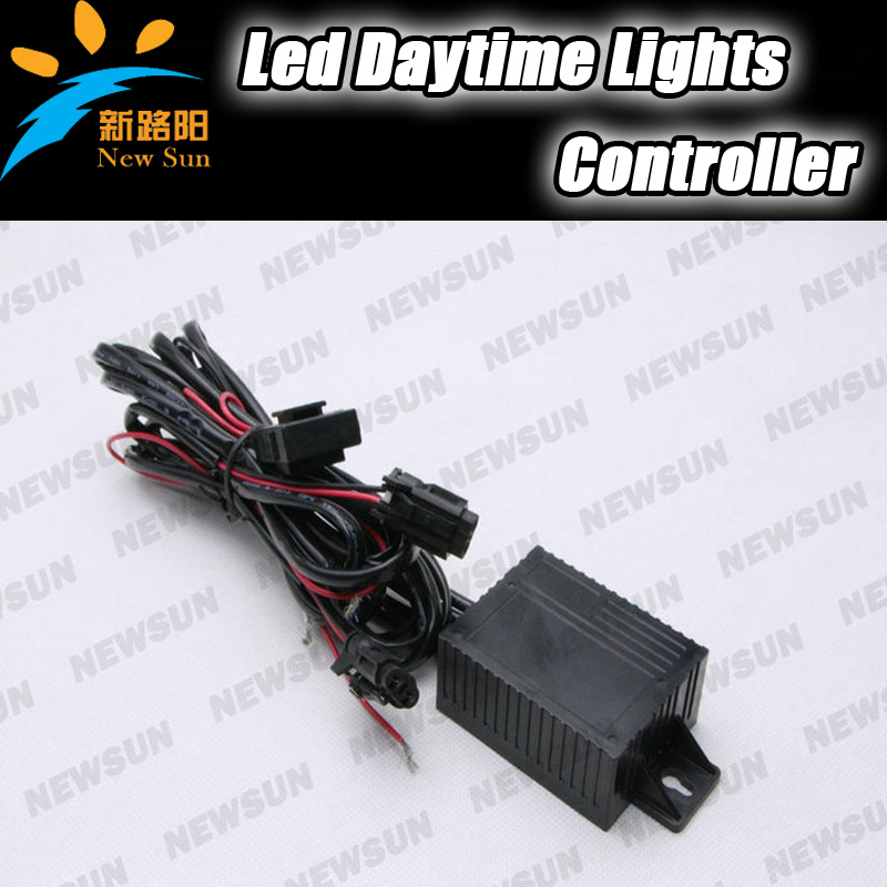 New Car led DRL Relay Daytime Running Light Relay Harness Auto Car Controller On/Off switch with Reduce light function 12v car auto led daytime running light relay harness drl controller on off dim reduce switch with load powerr 8w 12w