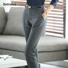 Full length 2018 spring business Formal pants women trousers girls slim female work wear office career 3XL XXXL