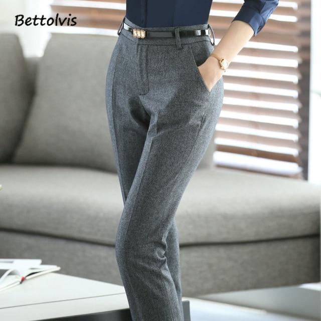 Full Length 2018 Spring Business Formal Pants Women Trousers Girls Slim Female Work Wear Office ...