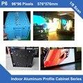 6 шт./лот P6 закрытый полноцветный светодиодный дисплей Алюминиевый Профиль панель Шкафа 576 мм * 576 мм тонкий прокат или fix 1/8 сканирования светодиодный видео экран