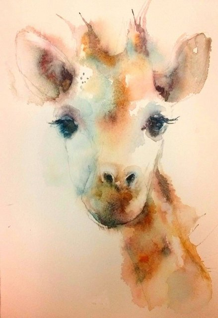 Abstract Wall Art Hang Pictures Handpainted Pictured CuteGiraffe Baby  Animal Oil Paintings On Canvas Wall Pictures