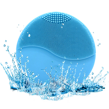 Ultrasonic Electric Silicone Facial Cleansing Brush Massager Vibration Blackhead Remove Pore Cleanser Waterproof USB Charge