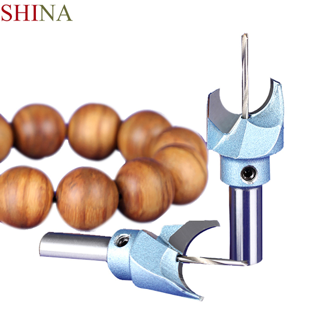 SHINA 1PC Carbide Woodworking Router Bit Buddha Beads Ball Knife 6-30mm Woodworking Tools Wooden Beads Drill Tool Milling Cutter