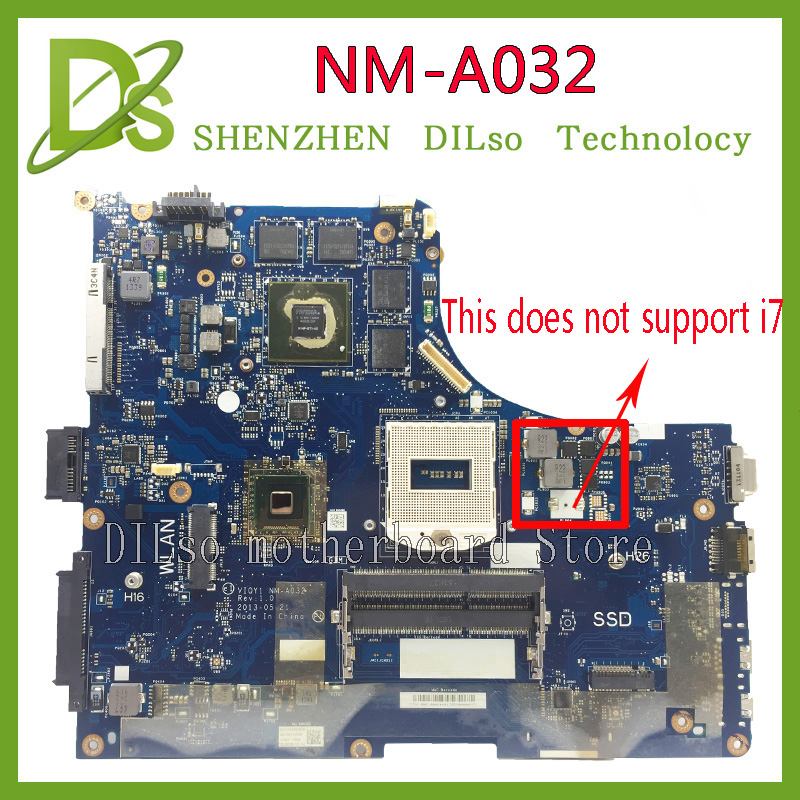 KEFU Y510P VIQY1 NM-A032 REV:1.0 Y510P laptop motherboard for Lenovo Y510P NM-A032 GT750/755 100% tested motherboard original power switch button board with cable for lenovo ideapad y500 y510p series ls 8691p nbx0001730j ns a032