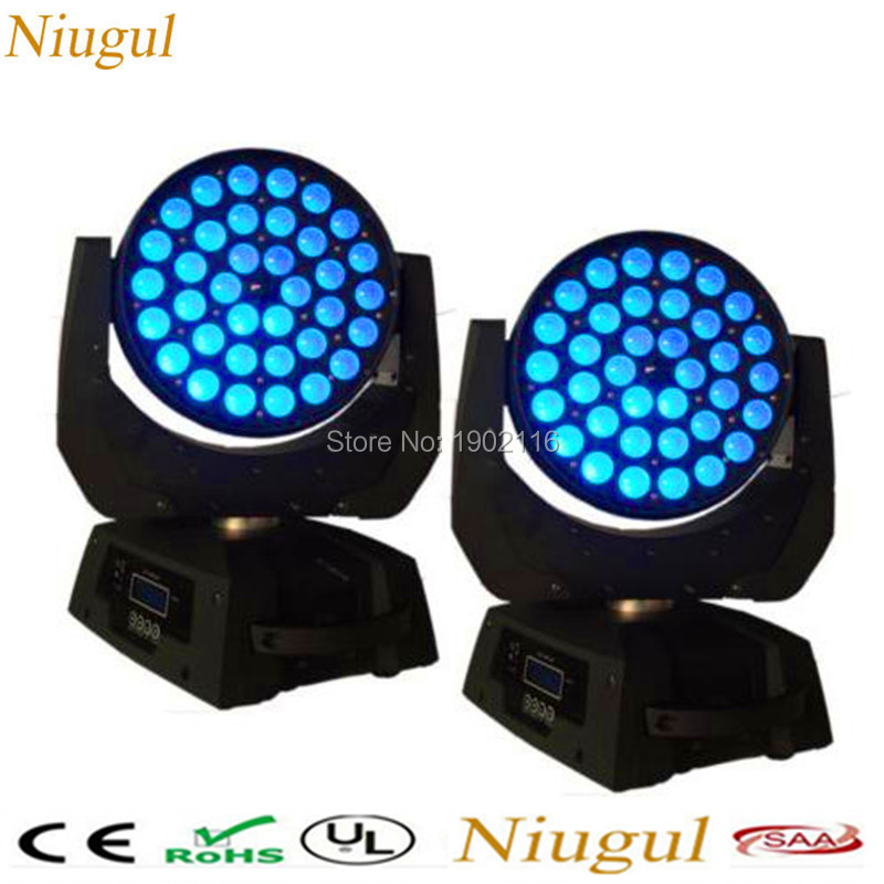 2Pcs/Lot Professional Zoom LED Moving Head Wash Light ,36x15W RGBWA 5in1 DMX512 For Club Disco Bar LED Stage Lights DJ Equipment