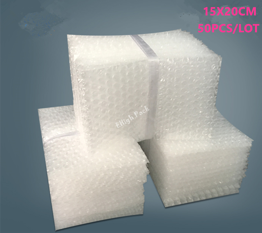 15*20cm 50Pcs Bubble Bags 10mm Protective Material De Embalaje Wrap Laser Cut Craft Transparent Bubble Packing Film