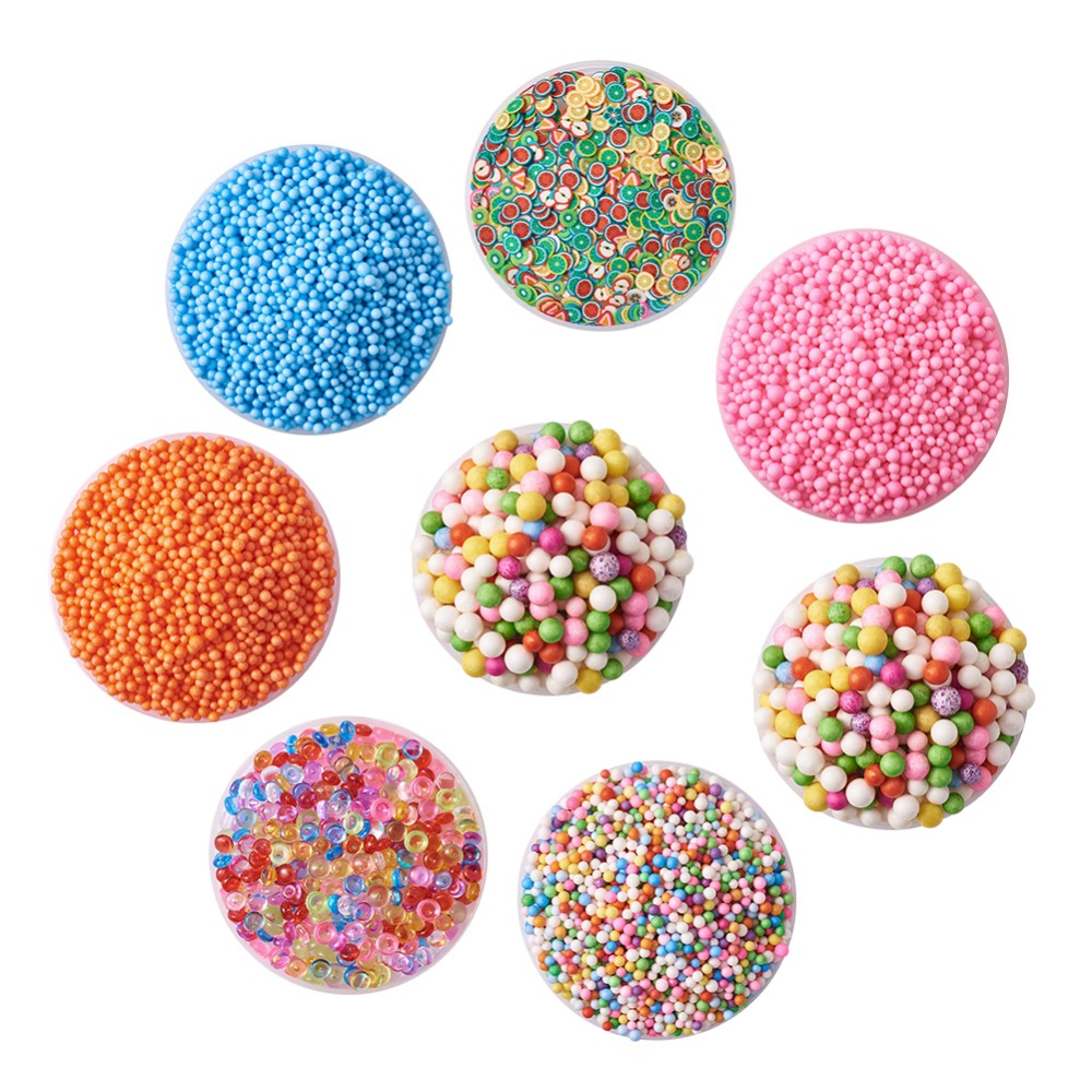 Foam Beads Balls & Polymer Clay Decoration Accessories Discounts Sale Beads & Jewelry Making Pandahall 1set 2.5~3.5mm Diy Slime Mud Making Tools Kits Beads