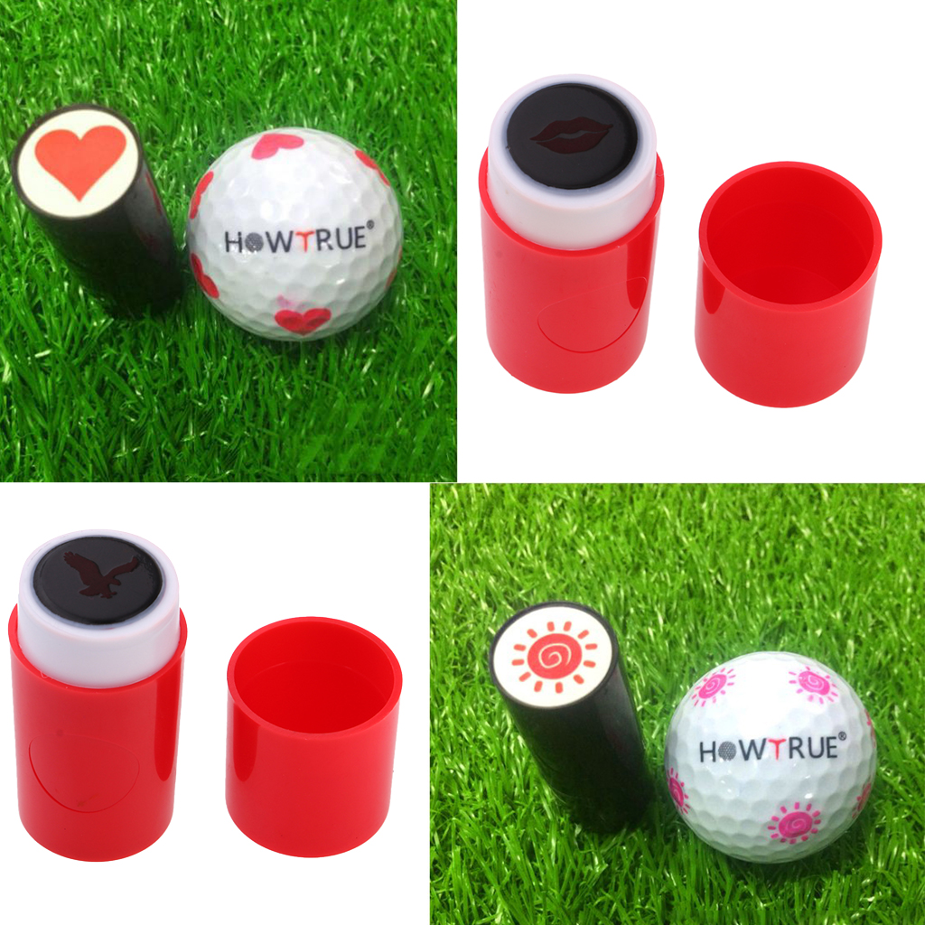 4 Count Colorfast Quick-drying  Golf Ball Stamp Stamper Marker Signet Club Prize Gift Giveaways Eagle Sun Heart Eagle Shape