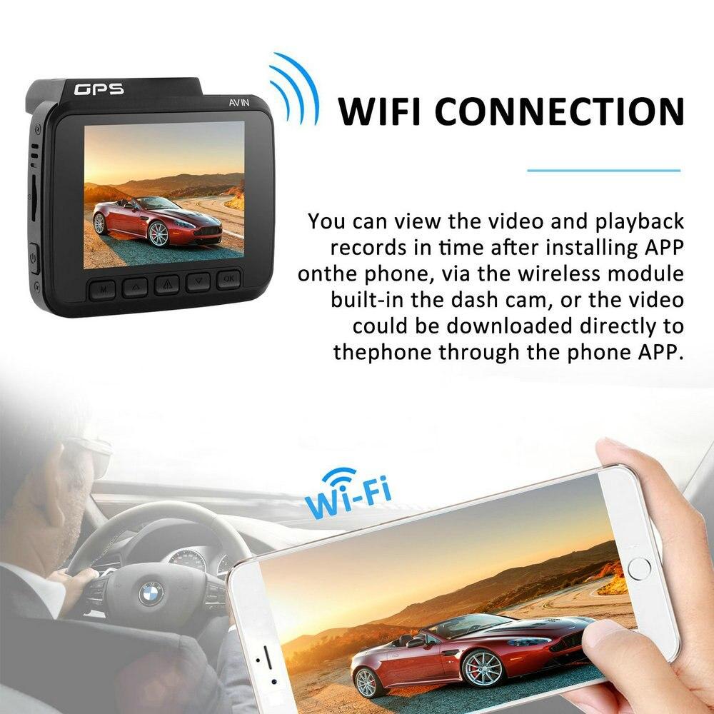 Dual Lens GS63D WiFi FHD 1080P Front Dash Cam Novatek 96660 Camera Built in GPS + VGA Rear Car DVR Recorder 2880 x 2160P - 4
