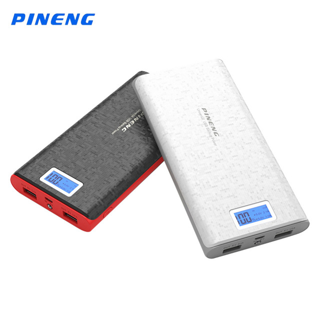 Hot Pineng 20000mAh Power Bank Li-Polymer Battery LED Indicator Portable External Charger Power Bank for iPhone 5s 6s 7 PN920