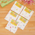 4 Pcs/lot 30*30cm Baby Face Towel 4 Layers High Density 100% Cotton Gauze Cartoon Baby Stuff Square Hand Towel Toalha Infantil