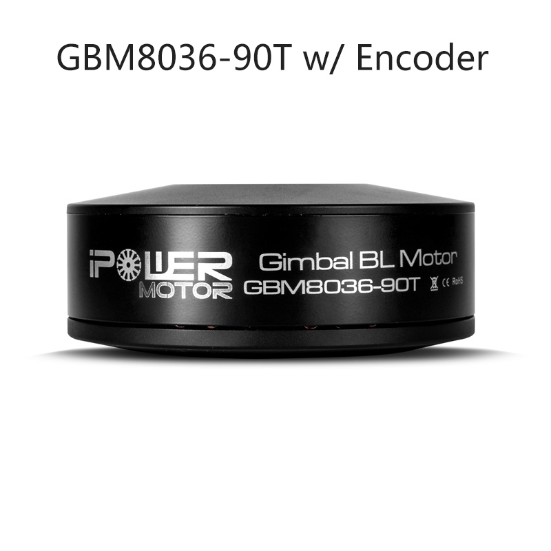 iPower GBM8036-90T 8036 Brushless Gimbal Motor with AS5048A Encoder Large Torque for DSLR BMCC Red Epic Brushless Stabilizer ipower brushless gimbal motor gbm8017 for red epic black magic camera professional fpv