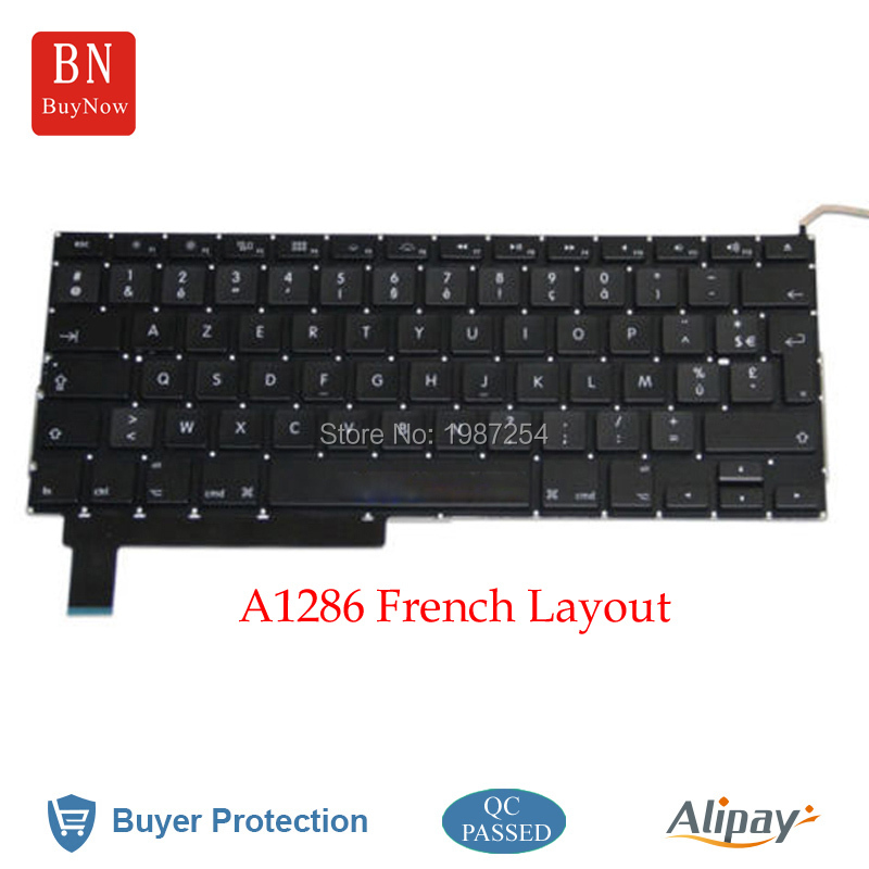 Original French Keyboard For Apple Macbook Pro 15'' A1286 With Backlight