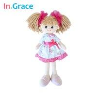 In Grace Brand Cute Lifelike Girls Dolls Birthday Gift Fashion Girls Dolls 40CM Handmade Toys For