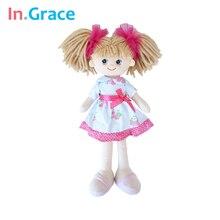 En. gracia de la marca lindo realista muñecas de las niñas moda del regalo de cumpleaños dolls girls 40 CM juguetes hechos a mano para los niños las niñas con red headwear