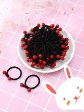 WEIJUN 5 pcs / bag Kids Hair Accessories Girls Red Bean circle Headdress Girl Headband Hair Bands For Women все цены