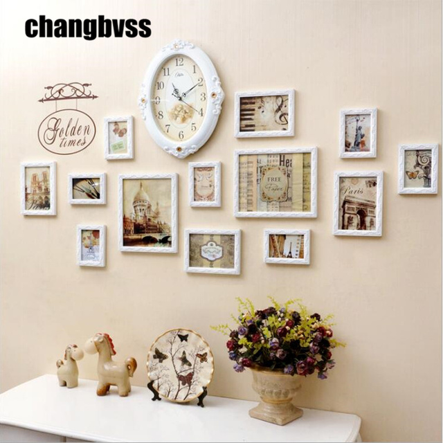 Pastoral Style Romantic White Frames For Pictures Hanging Background Wall  Decoration Photo Frame Creative Picture Frame