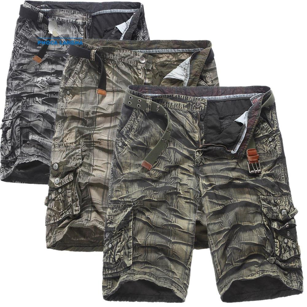 Men's Military Goods Shorts 2019 Camouflage Tactical Shorts Men's Cotton Loose Work Outdoor Casual Shorts