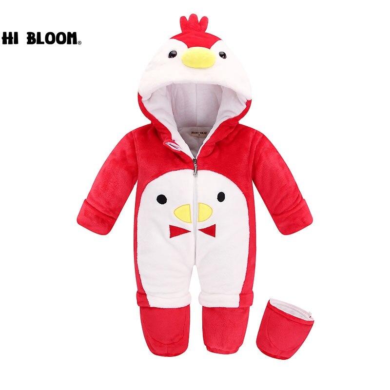 Подарок Детская одежда пижамы для новорожденных Ползунки животных Детские флис комбинезон с длинными рукавами для мальчиков и девочек зим...