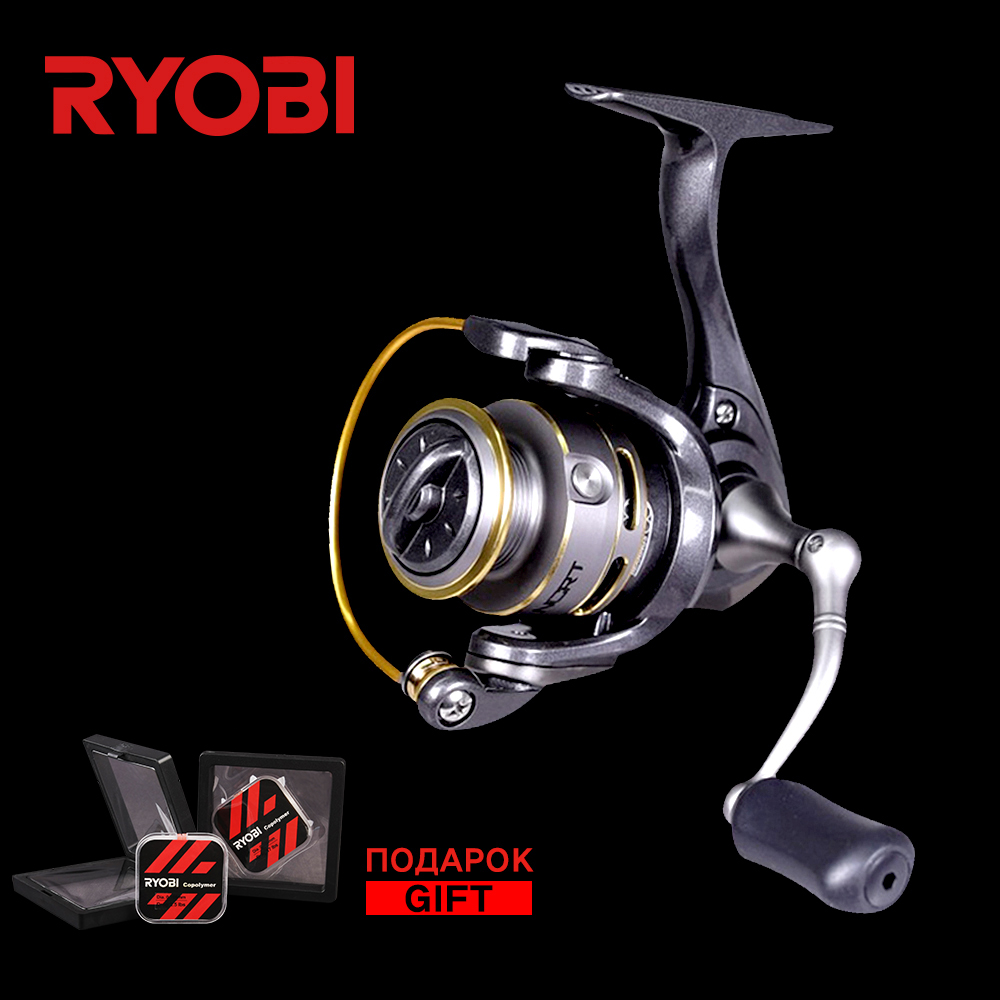 RYOBI SPIRITUAL-DX 500/800 100% Origin 7 Ball Bearing Reel 5.2:1 Speed Aluminum Body Right Left Hand Exchange Ice Fishing Reels