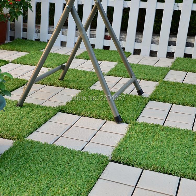 New decorative artificial grass turf floor tiles new decking material outdoor patio garden design floor