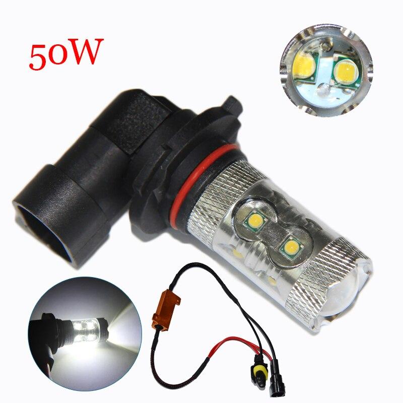 2x 9006/ HB4 50W LED Fog Light Lamp Canbus No Error For VW Golf 6 MK6 2011-2012 Scirocco 08-on T5 Transporter 2003-2016