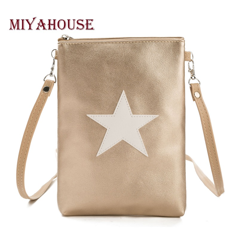 d437b0318d07 Miyahouse Soft Leather Small Shoulder Bag For Girls Double Zipper Female  Phone Bag Daily Use Women