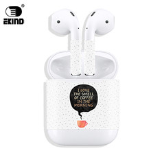 EKIND New Release Protective Vinyl Sticker earphone For Apple AirPods Skins Removable Adhesive Decorative Decal Wrap head Film(China)