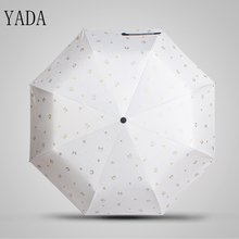 YADA Charms Animals Cats Folding Umbrella Rain Women Anti uv High Quality For Womens brand Windproof Umbrellas YS195
