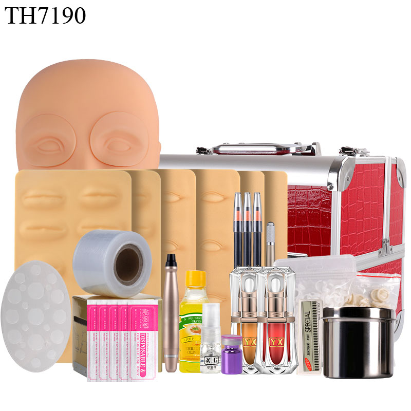 Tattoo Supplies Microblading Kit Professional Permanent Makeup Accessories for Pigment Eyebrow Practice Set Tools