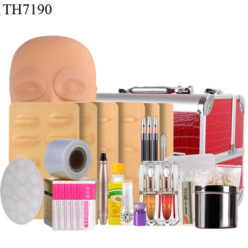 Tattoo Supplies Microblading Kit Professional Permanent Makeup Accessories for Microblading Pigment Eyebrow Practice Set Tools