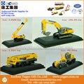 Escala 1: 87 Modelo, fundido, 4em1 Modelo de Construção, escavadeira, guindaste, motoniveladora, Modelo Em Miniatura de perfurador